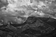 Collide (Sathish_Photography) Tags: blackandwhite mountains monochrome clouds shadows cloudy hills valley depth tamilnadu bwphotography collide nikon5100 valpaarai vaalparai sathishphotography nikon55300mmlens sathishkumarphotography skyfilledwithclouds