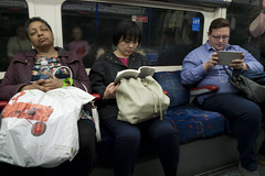 riding the tube (tcd123usa) Tags: london subway publictransportation thetube masstransportation