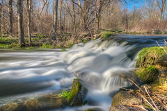In a Rush (tquist24) Tags: longexposure trees shadow tree nature water river bristol landscape geotagged waterfall nikon whitewater shadows unitedstates dam indiana hdr spillway bonneyvillemillcountypark nikond5300