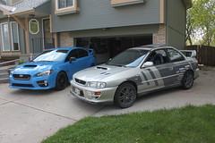 IMG_1062 (86Reverend) Tags: blue 2000 garage 25 subaru hyper 16 impreza wrx sti rs coupe 00 25rs 2016 serieshyperblue