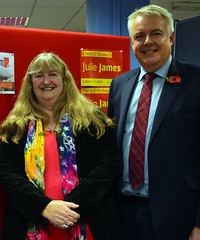 Julie James AM and Carwyn Jones FM
