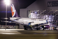 AIR MACAU A319 B-MAK 001 (Adolf Scirooco Kevin Zabi Murasame Muller Chung) Tags: light night plane aviation aeroplane airbus macau spotting mfm  a319 nx   airmacau