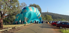 deflating time (spelio) Tags: water festival mar hotair balloon australia canberra act 2016 lakeburleygriffin