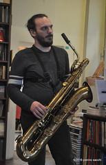 M4099340 (pierino sacchi) Tags: musica sax saxophone libreria recitazione baritono oneiros andreaferrari libreriacardano simonemocennibeck igorebulipoletti