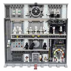Starwars Deathstar Minifig Collection Picture Frame (poltexius) Tags: starwars lego minifig deathstar pictureframe walldecoration