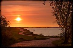 Sonnenuntergang am Brodtener Steilufer (LB-fotos) Tags: ocean sunset sun beach silhouette strand germany deutschland coast meer sonnenuntergang balticsea ufer sonne ostsee fahrrad steilkste kste ostholstein 70d brodtenersteilufer
