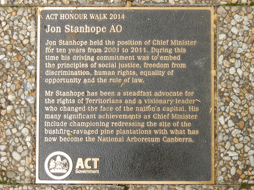 ACT Honour Walk : Jon Stanhope