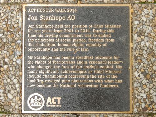ACT Honour Walk : Jon Stanhope