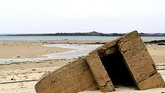 War is over (patrick_milan) Tags: sea mer beach sand brittany bretagne plage minimalist finistre abstrait iroise blockaus