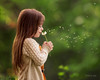 Forget me not (Portraits by Suzy) Tags: las vegas light summer portrait blur flower color cute green love nature girl beautiful beauty childhood fashion by portraits children outdoors movement photographer child natural wind action bokeh candid suzy dandelion story moment mead