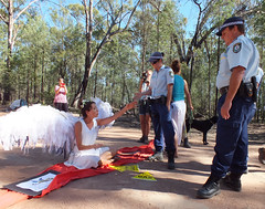 Deborah Hart appeals to Police (climateguardians) Tags: from by evans image jo push pilliaga