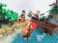 First Settlers of Moray's Den (Jacob Nion) Tags: landscape lego pirates corsair caribbean diorama bobs buccaneer