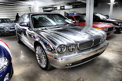 2002 Jaguar XJR Polished Metal Saloon. (ManOfYorkshire) Tags: show new 2002 heritage museum model display centre chrome collections owned trust british motor jaguar coventry saloon warwickshire polished manufactured aluminium daimler bridgend gaydon preproduction xjr castlebromwich x350