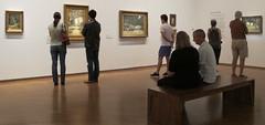 Enjoying Tom Roberts at the NGA (spelio) Tags: people art bench tour jan watching paintings australia tm canberra resting gazing enjoying act nga 2016