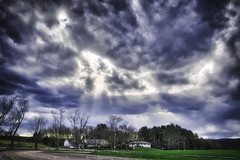 Light Rays, 2016.04.02 (Aaron Glenn Campbell) Tags: sky clouds colorful pennsylvania vibrant sony vivid sigma lehman hdr nepa bmr luzernecounty backmountain mirrorless athleticfields a6000 emount macphun 19mmf28exdn sonyalpha6000 ilce6000 3ev aurorahdrpro backmountainregionalrecreationalcomplex