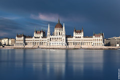 View of Budapest parliament (SvetoGraf) Tags: old city travel blue sunset sky panorama building tourism architecture river landscape town europe hungary cityscape view capital budapest parliament landmark national magyar danube pest hungarian