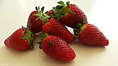 Fresas - Maduixes (Maria J. Muoz) Tags: food postres dessert strawberry comida catalunya catalua fraise mousse menjar fresa collbat maduixa