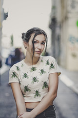 the city becomes your playground #2 (Joo Carmo) Tags: street city portrait people woman girl beautiful female pretty bright f14 young babe m42 colourful oldglass f19 vintagelens mamiya80mmf19 canoneos650d