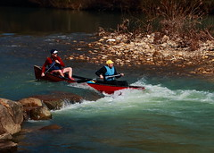 Canoeists on Buffalo River - Steel Creek Campground, Northwest Arkansas (danjdavis) Tags: canoe arkansas canoeing canoeists buffalonationalriver buffaloriver steelcreekcampground