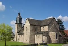 Klosterkirche St. Georg und Maria (ute_hartmann) Tags: kirche weserbergland klosterkirche lippoldsberg
