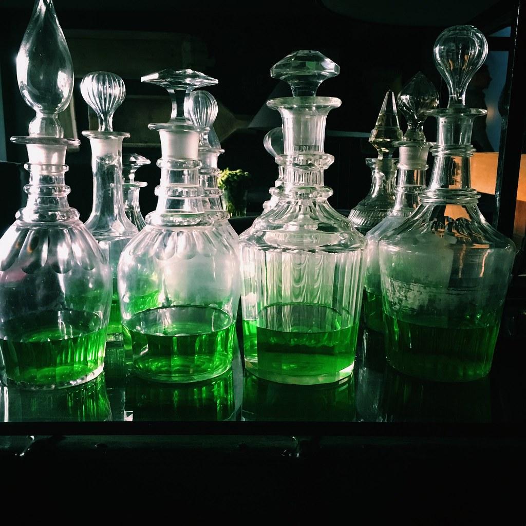 ... vert multiple colourful decanter glassware barware demetria grun
