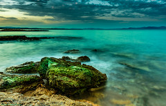 Seascape (Christos Kourmouzoglou) Tags: beach clouds seashore