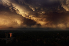 (Malykhanov) Tags: trip travel sunset sky storm color clouds forest dark woods russia moscow hurricane atmosphere