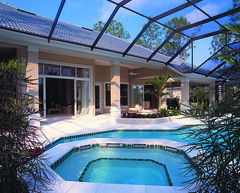 Biltmore Trace Home Plan by The Sater Design Collection (Sater Design Collection) Tags: pool verandah poolcage