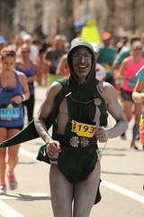 Costume (historygradguy (jobhunting)) Tags: people man green sports sport boston ma person costume marathon candid massachusetts newengland running run bodypaint cape hood runners athletes mass athlete runner brookline coolidgecorner bostonmarathon marathoner marathoners 2016bostonmarathon