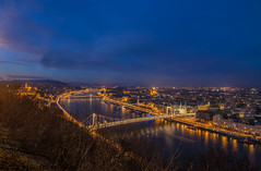 Blue hour (Vagelis Pikoulas) Tags: travel winter castle canon river landscape europe hungary view budapest january parliament tokina buda pest 6d 2016 dunave 1628mm