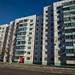 A maioria das moradias são em prédios