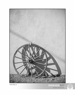 Wagon wheel, tombstone -2004