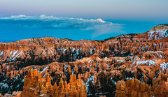 Sunset Over Inspiration Point (MarcCooper_1950) Tags: blue sunset red sky panorama orange clouds landscape outdoors twilight nikon scenery sundown cloudy dusk vivid canyon cliffs hoodoo bryce inspirationpoint hdr lightroom brycecanyonnationalpark d810 nikkor35mm nikkor2470mm28 marccooper