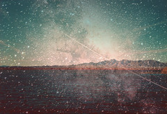 Havasu Starfield (Keysgoclick) Tags: california arizona lake mountains film analog 35mm vintage stars nikon desert doubleexposure space hipster retro indie pointandshoot boho eclectic l35af