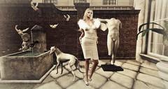 Vixan (darlingevie72000) Tags: ladies dog fashion dress mesh secondlife imagination doves slink