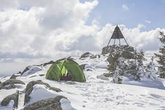 _6409 (Capelle.R) Tags: camping winter sky cloud snow france mountains green montagne canon season 50mm sweet hiking walk hiver pic tent hike neige tente randonne quechua lozere 5dm2 capelleromain