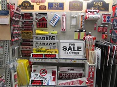 Sign Department at Lowes (TedParsnips) Tags: signs retail hardware hardwarestore merchandise lowes
