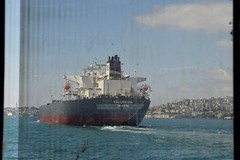 Big ship, dirty window (D. P. S.) Tags: ship bosphorus