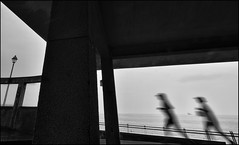 F_DSC3916-BW-1-Nikon D800E-Nikkor 14mm F2.8 D-May Lee  (May-margy) Tags: ocean portrait bw motion blur concrete ship bokeh taiwan rails pavilion   joggers           repofchina nikkor14mmf28d  newtaipeicity maymargy  nikond800e maylee  mylensandmyimagination streetviewphotographytaiwan  naturalcoincidencethrumylens  linesformandlightandshadows  fdsc3916bw1
