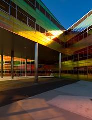 _DSC2242 (durr-architect) Tags: light sun colour reflection netherlands glass architecture modern facade offices almere dfense berkel unstudio