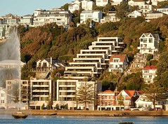 Living Up the Hill (mikecogh) Tags: houses architecture modern repetition wellington hillside slope