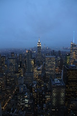 blue (Paul J's) Tags: city nyc longexposure usa newyork skyline night landscape empirestatebuilding rockefellercentre topoftherock 13011025nyc
