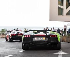 Queuing up for the tunnel (Alexbabington) Tags: orange green cars car italian wing lamborghini supercar dmc supercars aventador