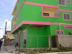 Belize City - Green & Pink (The Popular Consciousness) Tags: belize belizecity centralamerica
