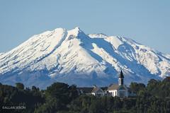 Snow Again ! (AllanS.) Tags: chile sky snow church volcano nikon south nieve iglesia sur sudamerica volcan calbuco 55300 d5200