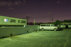 Artificial Green (Alec C Miller) Tags: street city urban color detail art night digital landscape photography los long exposure cityscape angeles decay parking fine lot east hollywood