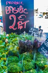 20160419 Provence, France 02459 (R H Kamen) Tags: france market herbs basil cassis pricetag freshness foodmarket bouchesdurhne provencealpesctedazur westernscript rhkamen