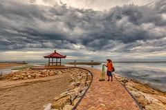 Fisherman, Sanur Beach, Bali (Rajan Raju) Tags: sky bali clouds fisherman mayday sanurbeach