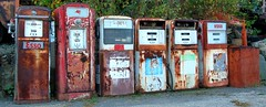 Vintage Gas Pumps (New Paltz Camera Company) Tags: new york ny sign river pumps bob mobil gas valley hudson esso esposito claverack vintageabandoned