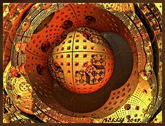 *Full moon on Earth... (MONKEY50) Tags: art digital colors fractal moon ball xmas gold metal abstract orange brown flickraward musictomyeyes autofocus hypothetical shockofthenew awardtree netartii artdigital beautifulphoto contactgroups